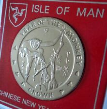 2004 Isle of Man Chinese Lunar Zodiac New Year of the Monkey Crown Coin BU Gift