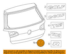 VW VOLKSWAGEN OEM Golf Liftgate Tailgate Hatch-Emblem Badge Nameplate 5G0853617A