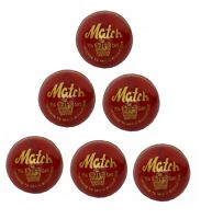 CW MATCH Red Leather Cricket Ball Set Of 6 Hand Stitched Top Grade Free Shipping