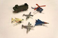 6 Vintage Die Cast Miniature Japan AIRPLANE Premium Cracker Jack Duck b-52 F-102
