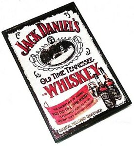 JACK DANIEL'S Old Time Tennessee Whiskey Wooden Fridge Magnet Rock Merchandise