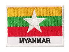 Ecusson patche drapeau Birmanie MYANMAR nouveau 70 x 45 mm patch pays coudre