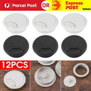 12pcs Computer Desk Table Grommet Cable Tidy Surface Port Wire Hole Cover 50mm