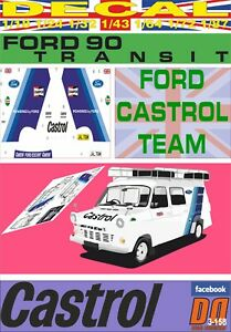 DECAL FORD TRANSIT ASSISTANCE FORD CASTROL TEAM (06)