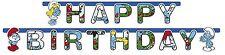 GHIRLANDA FESTONE HAPPY BIRTHDAY PUFFI ADDOBBO COMPLEANNO FESTA BAMBINO BIMBI