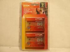 TDK 60 Minute MiniDV Digital Video Cassette 2 Pack DVM60MEC2WGRA