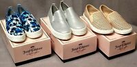 Juicy Couture Women's Slip-On Sneakers Shoes (3 styles) Assorted Sizes BNIB