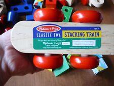 Melissa & Doug Wooden Stacking Train Random Pieces  & Colorful Blocks