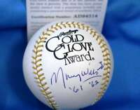 MAURY WILLS Signed PSA DNA Gold Glove Baseball Authentic Autograph