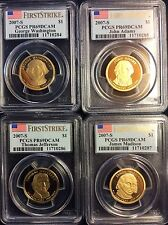 2007 PRESIDENTIAL $1 COIN PROOF SET PCGS PR69 DCAM FIRST STRIKE
