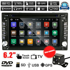 GPS 6.2'' Double 2 Din In-Dash Car DVD Player Radio Stereo Bluetooth iPod+Camera