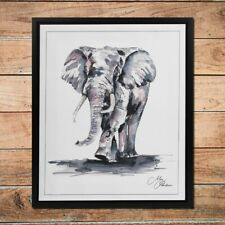 MEG HAWKINS FRAMED WALL ART - ELEPHANT