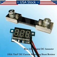 "0.36""  Blue LED Digital DC Ammeter AMP Mini Current Panel Meter DC 0-100A NEW"