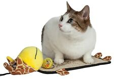 Pet Life Paw-Pleasant Sisal And Jute Hanging Carpet Kitty Cat Scratcher  Toy