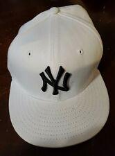 NY Yankees White Baseball Cap 59Fifty Size 7 1/8