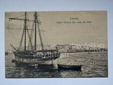 TARANTO barca vela veliero Corso Vittorio Emanuele vecchia cartolina