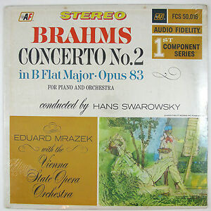 VIENNA STATE OPERA ORCHESTRA Brahms Concert No.2 In Bflat Major LP 1965 (SEALED)