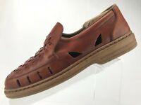 Rieker Loafers Fisherman Sandals - Brown Comfort Leather Men's Size 41 US 7/7.5