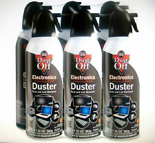 Air Computer TV Compressed 6 Cans Duster 12oz Dust Off Laptop Keyboard