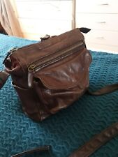 COLORADO Brown Leather Crossbody Handbag Bag
