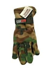 Sport World Blue Thermal Insulation Camo Fleece Gloves Men's One Size NWT