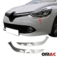Fits Renault Clio 2012-2019 Chrome Headlight Streamer Trim S.Steel 2 Pcs