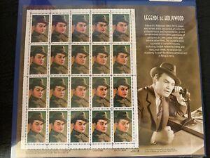 us stamps SC# 3446 Edward G. Robinson sheet of 20 MNH 33c 2000