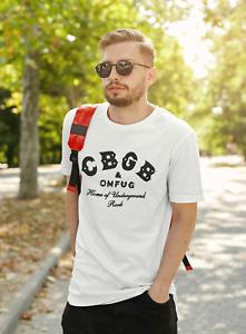 CBGB OMFUG T-shirt Punk Rock CBs Underground Tee Adult Mens S-3XL Black New
