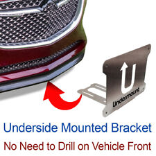 UNDER MOUNT LICENSE PLATE BRACKET tag frame mounting holder no drill  front Buic