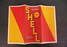 1938 Quebec road map Shell oil Maritime Provinces Canada