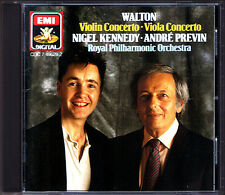Nigel Kennedy: WALTON Violin Viola Concerto Andre Previn EMI CD MADE IN JAPAN 87