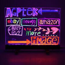16x12 Flashing Led illuminated Writing Board Fluorescent Sign Message Dry Erase