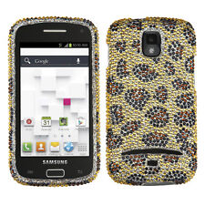 For Samsung Galaxy S Relay 4G Crystal Diamond BLING Hard Case Cover Leopard