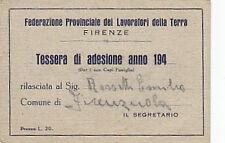 TESSERA FEDERAZIONE COLTIVATORI DIRETTI 1964