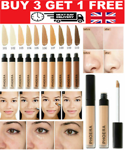 Phoera® Full Coverage Concealer Foundation Makeup Matte Brighten Long Lasting UK
