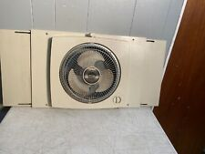Vintage Galaxy Window Fan 2 speed Reversible Working Good.