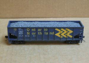 ROUNDHOUSE HO Ontario Northland 45' 3-Bay Hopper w/Coal Load #6071