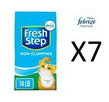 Fresh Step 14 lbs Scented Non Clumping Clay Cat Litter, Pack of 7