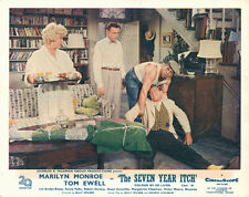 Seven Year Itch Tom Ewell Marilyn Monroe in apartment original UK lobby card.
