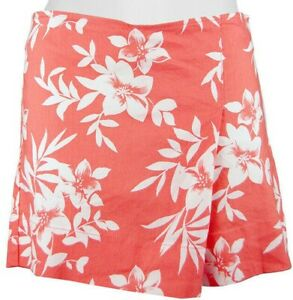 Tommy Bahama Women's Size 2 Costa Blooms Coral Bluff Linen Short - Skort NEW $98