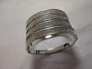 unusual swarovski  hinged bracelet/bangle  statement item??  pre loved