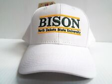 North Dakota State NDSU Bison Cap Adjustable Snapback The Game White Bar Hat
