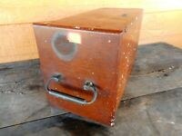 Antique Microscope Box wooden Safe Box USA Vintage Scientific Science Collect