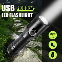 Flashlight T6 LED Magnetic Tail 4 Modes Waterproof IPX6 USB Rechargeable  NEW