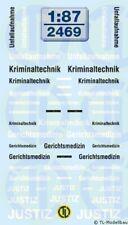2469 - Decals Ergänzungsbogen Polizei 1:87