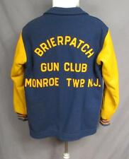 Vintage 1960s Brierpatch Gun Club Wool Varsity Type Jacket Sz.L Monroe Twp. NJ