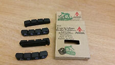 Set of 4 Cartridge Brake Rubbers: Black : 60mm (Shimano STX-RC and LX compatible