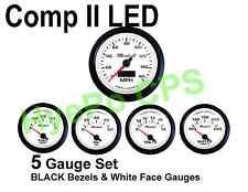 Comp Ii 2 Sport Led 5 Gauge Auto Gauge Meters Hot White With Black Bezel Usa Made