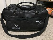 Men Leather Mule Deer Foundation Gym Duffle Satchel Carry Luggage Black
