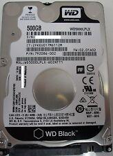 """Western Digital 500GB Black 7200 RPM 32MB SATA3 6.0Gb/s 2.5"""" HDD WD5000LPLX"""
